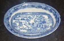 Sweet Little Antique Hackwood Early Willow Pattern Pearlware Toy Pie Dish C 1840
