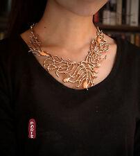 Collar Art Deco Rama Coral Barroco Original Vintage Retro Estilo QT 1