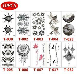 10 pcs Temporary Tattoo Stickers Body Art Fake Body Waterproof S6I0 Art L2U6