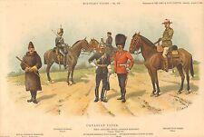 1902 Richard Simkin Military Print, 176 Canadian Types