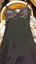 BODY CENTRAL Black & White Spaghetti Strap Sleeveless Dress Junior Women Size M
