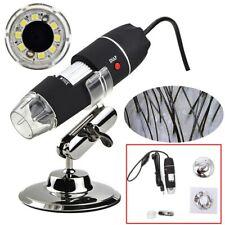 Microscopio digital USB 40X ~ 1000X 8 LED USB 2.0 Compatible con Windows 7 8 10