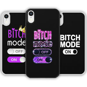BITCH MODE ON Phone Case Cover For iPhone Samsung Galaxy Joke Rude Funny Gift