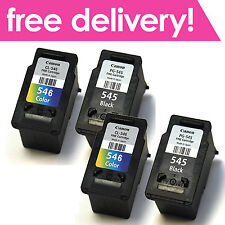 4x Genuine Canon PG-545 CL-546 Inks for Pixma MG2450 MG2550 MG2950 MG3050 MG3051