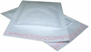 PADDED BUBBLE LINED ENVELOPES / BAGS - WHITE MAILERS - ALL SIZES & AMOUNTS