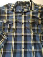 Polo Jeans Co Ralph Lauren Mens Blue Plaid Long Sleeve Shirt 100% Cotton Sz XXL
