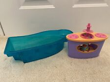 Mattel 2007 Barbie Party Cruise Ship Blue Pool Replacement Pool Buffet fish tank