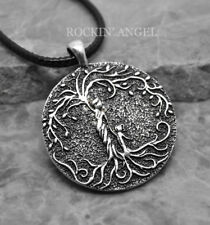 Antique Silver Plt Mother & Child Tree of Life Pendant Necklace Ladies Mums Gift