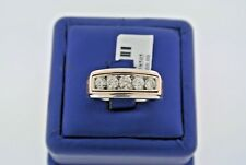 14k Two Tone Gold 1.25 CT Diamond Men's Ring, 9.2gm, Size 10, S13608