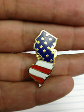 NJ Lapel New Jersey State Lapel Pin Chris Christie USA Flag New Style 2 Pins