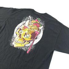 Rare Billionaire Boys Club Ice Cream T-shirt Size XXL BBC Vintage Black Skull