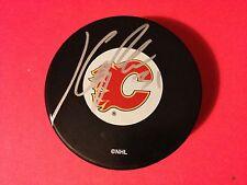 Karri Ramo Calgary Flames Signed Auto Hockey Puck COA