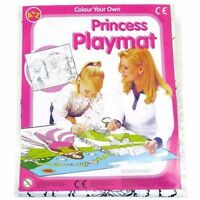 PRINCESS COLOUR IN PLAYMAT & CRAYON GIRL ACTIVITY BIRTHDAY GIFT PARTY BAG FILLER