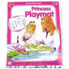 PRINCESS COLOUR IN PLAYMAT & CRAYON GIRL ACTIVITY GIFT CHRISTMAS STOCKING FILLER