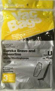 NEW EUREKA BRAVO AND POWERLINE STYLE U 3 PACK BAG OF VACUUM BAGS FREE US SHIP