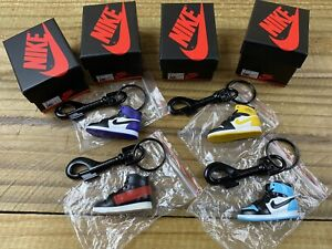 NEW Nike Air Jordan 1 Keychain Lot of 4 With SUPREME Latch Mini MJ Shoes