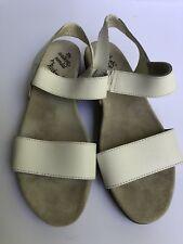 ROCKPORT THE WALKING SANDAL White Leather Women's 7.5 M Slip On Comfort Shoe