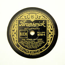 "DEANNA DURBIN ""The Maids Of Cadiz / My Own"" 1938 (E+) BRUNSWICK 02705 [78 RPM]"