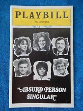 Absurd Person Singular - Music Box Theatre Playbill w/(3) Autographs - May 1975