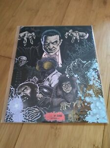 BAM! Classic Monsters 8x10 Fan Art Print #702/2000 Signed by Ken Haeser Part 2