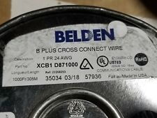 Belden XCB1 24/1P CAT5 B-Plus Cross-Connect Wire Cable Blue/White /1000ft