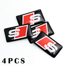 4 Small AUDI S SPORT Logo Decal/Badge/Sticker/Adhesive/Quattro/Avant/S4/A3/A6/S6