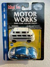 MAISTO: Motor Works - VOLKSWAGEN 1300 BEETLE & CAMPER Die Cast - 2 pk