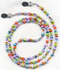 NEON COLORS Summer Mix Eyeglass~Glasses Holder Leash Necklace Chain CUSTOMIZED