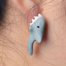 earrings,shark biting ear look ! 1pair shark earrings,3D shark ear ring,cute