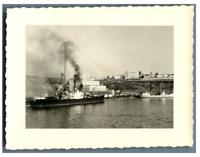 Algérie, Oran (وهران), Le Port  Vintage silver print.  Tirage argentique  8,