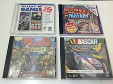 PC Games Lot Of 4 Nascar Racing 4, Mall Tycoon, Roller Coaster Factory, Galaxy