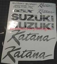Suzuki KATANA 600, 750, 1100 CHROME Decals Sticker 18pc Set +Flames FREE SHIP