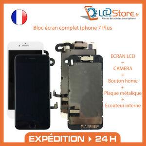 Bloc écran complet Iphone 7 Plus tactile + LCD + Caméra frontale + bouton home
