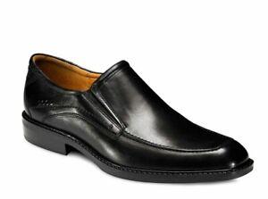 Ecco Mens Windsor Black Leather Slip On 51804 Shoe Size 46, UK 11.5, US 12-12.5