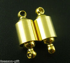 10 Sets Barrel Magnetic Clasps 22x8mm Findings