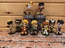 DC Comics Lil' Bombshells Vinyl Figures Set Of 9 Batwoman Harley Quinn Catwoman