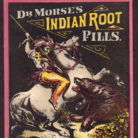 Dr Morses Indian Cure 1800's Patent Medicine Bear Hunting Advertising Trade Card