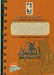 2003 FLEER PLATINUM KEVIN GARNETT SCOUTING REPORT #'D 307 / 400