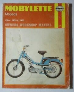 HAYNES MOBYLETTE MOPEDS 49CC 1965 TO 1976 MAJORETTE MAJOR MINOR MONO 50