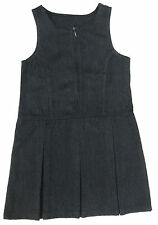 Girls School Pinafore Dress Charcoal Grey Dresses x 2 Ages 4-5Y up to 12-1