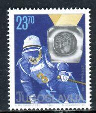 2045 - Yugoslavia 1984 - Jure Franko - Olympic Champion - Skiing - MNH Set