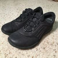 EUC CLARKS WAVE WALK women's shoes size 7 black Suede leather upper casual