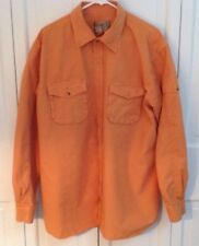 The Territory Ahead Men's XL Orange Rust Long Sleeve Shirt Pockets