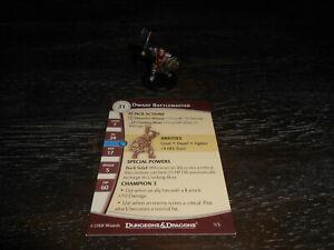 Dwarf Battlemaster D&D Miniature Dungeons Dread starter mini Dragons Pathfinder