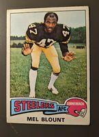 1975 Topps #12 Mel Blount Rookie Pittsburgh Steelers HOF VGEX