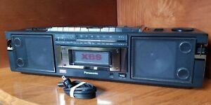 Vintage PANASONIC RX-FW39 Dual Cassette Deck Recorder XBS HIFI Stereo Boombox!