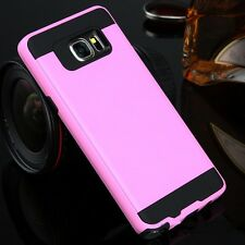 Hybrid Brushed+TPU Anti-shock Armor Case For Samsung Galaxy S5 S6 S7/Edge Note 5