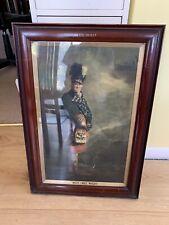 More details for  1919 antique dewars white label whisky advertising mcnab original stamped frame