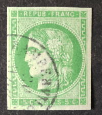Timbre France, n°42b,  5c vert obl Tb joli timbre cote 200€