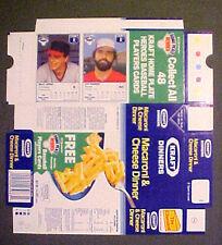 1987 Wally Joyner~J. Reardon NEVER~FOLDED KRAFT HOME PLATE BOXES Baseball Cards